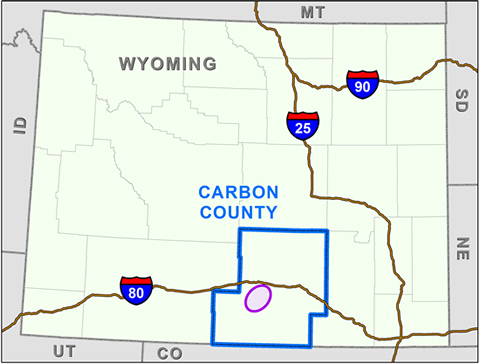 Wyoming wind farm project map